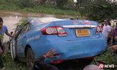 พ.ต.ท.ขับแท็กซี่ไม่รู้ทาง ย้อนศรกลับรถ พุ่งลงคลองดับ