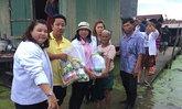 พม.เร่งช่วยปชช.33ครัวเรือนน้ำท่วมปทุมธานี