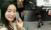 หนุ่มจีนลุกขึ้นมาแต่งหญิง โชว์ลีลาสยิวกลางแจ้ง สะกดทุกสายตา