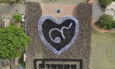 อ่างทองแปลอักษรรัชการที่9ในรูปหัวใจ