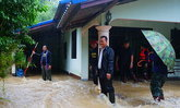 พัทลุงฝนหนักน้ำป่าหลากท่วมอย่างรวดเร็ว