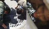 นาทีชีวิต! หนุ่มปริศนาติดในท่อระบายน้ำ กลางถนนวิภาวดี โชคดีกู้ภัยช่วยทัน