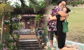 กบ ปภัสรา เยี่ยมบ้านเกิดสุพรรณฯ ภาพซึ้งนั่งกอดแม่บังเกิดเกล้า