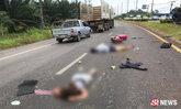 โศกนาฏกรรมสิบล้อชนเก๋ง 3 ศพ นทท.ฝรั่งกลิ้งดับกลางถนน