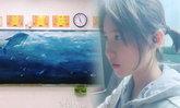 สวยมาก! ศิลปะบนกระดานดำของนักเรียนจีน แถมหน้าใสคล้ายหลิวอี้เฟยสุดๆ