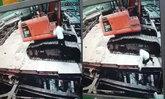 วินาที เจ้าของคอนโดฯตกจากแบคโฮ ลงหลุมลึก 25 เมตร