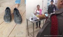 หนุ่มคนงานฉุนหมากัดรองเท้า ใช้ดาบฟันขาขาด 2 ข้าง