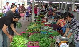 เกษตรกรระนองขายผักพื้นบ้านราคาถูก