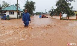 โคราชฝนตกต่อเนื่อง เกิดน้ำป่าไหลเข้าท่วมอำเภอพิมาย