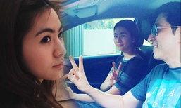 โมเม้นต์น่ารัก น้องมายด์ ลูกสาว แซม ยุรนันท์ เป็นสารถีขับรถให้พ่อ