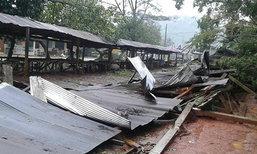 ชุมพรน้ำป่าหลากพายุถล่มหมู่บ้าน-ตลาดพังราบ