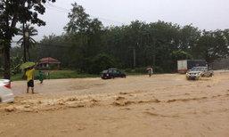 ประจวบฯ-น้ำป่าไหลหลากท่วมบ้านในเขตชุมชน