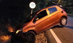 นทท.แสบขับรถตกคูพังยับปล่อยทิ้งไว้ ก่อนชิ่งหนี คาดเมา-ไม่ชินเส้นทาง
