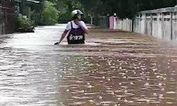 ถนนสกลนคร 9 เส้นทาง ถูกน้ำท่วมตัดขาด สัญจรไม่ได้