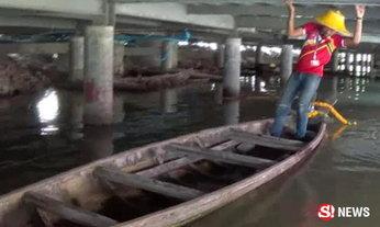 พ่อค้าฝันเห็นสาว ก่อนขุดเจอเรือตะเคียน ใต้ตลาดน้ำดังพัทยา