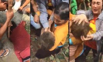 เด็ก 4 ขวบตกบ่อบาดาล คนงานสวนลำไย ช่วยขึ้นมาได้อย่างปาฏิหาริย์