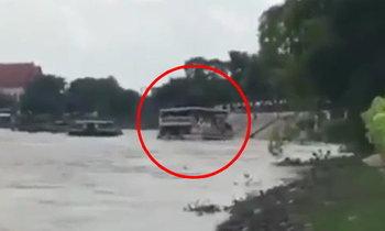 ภาพนาทีเรือโดยสารล่มเจ้าพระยา ผู้รอดเล่าช่วงเวลาเฉียดตาย