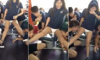 วิจารณ์ยับ! รับน้องมหาวิทยาลัยที่ฮ่องกง ให้หนุ่มเลียขาสาว