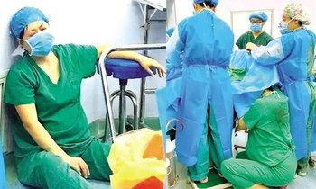 ภาพซึ้งใจ พยาบาลท้องแก่คุกเข่าช่วยทำคลอด นานครึ่งชั่วโมง