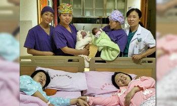 สุดอัศจรรย์ สาวจีนฝาแฝด คลอดลูกตัวเองในวันเดียวกัน