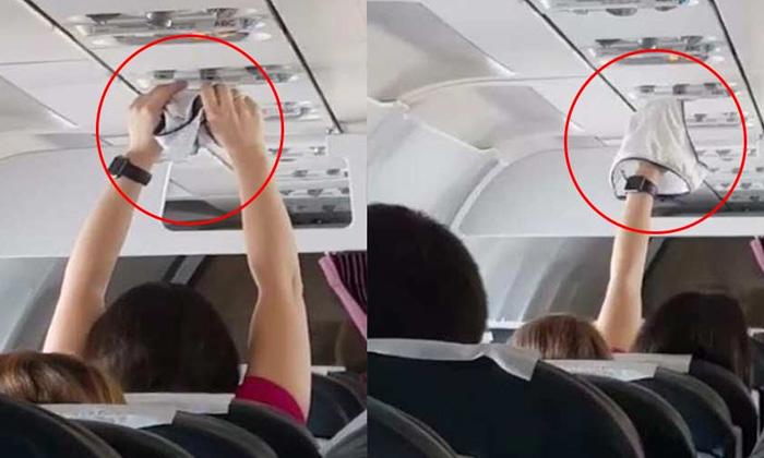 อึ้งยกลำ! สาวชูกกน.เปียกตากแอร์บนเครื่องบิน