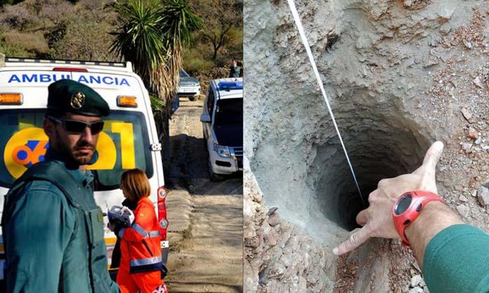 กู้ภัยสเปนระดมช่วยเด็ก 2 ขวบ พลัดตกบ่อลึก 100 เมตร ต่อหน้าต่อตาพ่อแม่