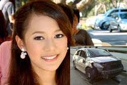 นางเอก 7 สี ทับทิม อัญรินทร์ ประสบอุบัติเหตุรถคว่ำ