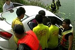 พยาบาลอุบลฯ ออกเวรดึกขับรถแหกโค้งจมอ่างเก็บน้ำเสียชีวิต