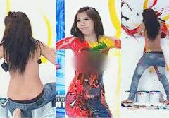 สาวถอดเสื้อวาดรูป กลางรายการ Thailand's Got Talent