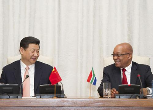 จีน-แอฟริกาใต้ร่วมจับมือเชื่อมสัมพันธ์ทวิภาคี