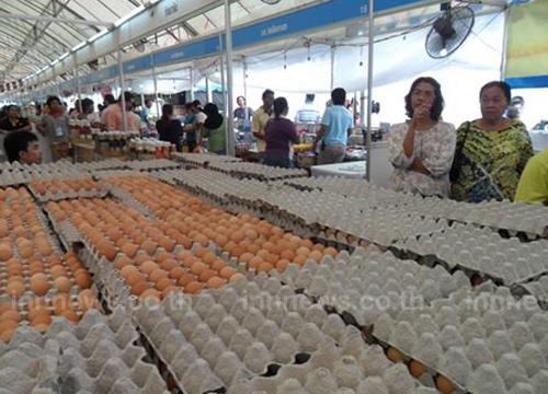 ระนอง เปิดขายไข่ธงฟ้าวันละ 3 รอบ