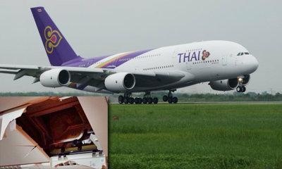 เครื่องแอร์บัส การบินไทย ตกหลุมอากาศที่ฮ่องกง เจ็บ 20