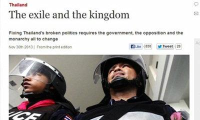 สื่อนอกเสนอ 3 วิธีช่วยไทยรอดวิกฤตม็อบยึดเมือง