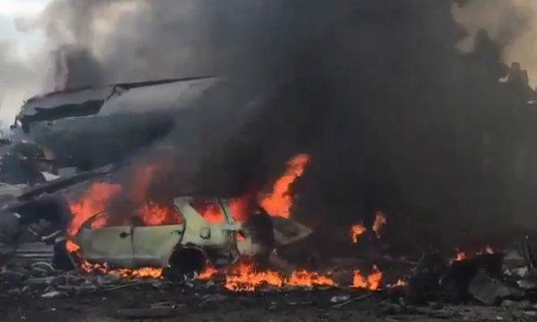 ด่วน! เครื่องบินC-130 กองทัพอินโดฯ ตกใส่บ้านคน