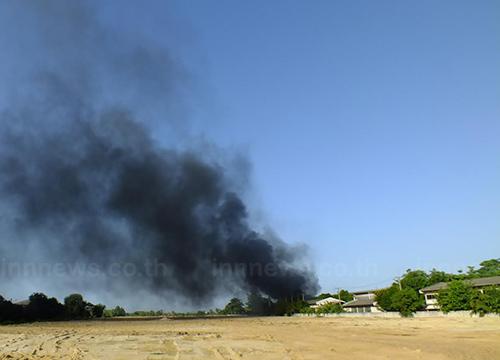 ไฟไหม้ใกล้ที่ตั้งถัง LPG จนท.เร่งดับสำเร็จ