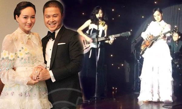 เพชร นาระ เจ้าสาวสุดเท่ จับไมค์ร้องเพลงเล่นเบส ฉลองงานแต่ง
