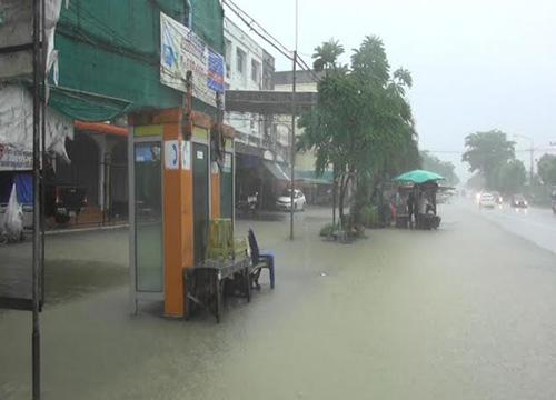 มูจีแกส่งผลน้ำท่วมหลายจุดในจ.จันทบุรี