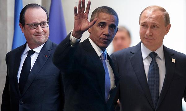 ผู้นำฝรั่งเศส นัดถกสหรัฐ-รัสเซีย ถล่มหนัก IS