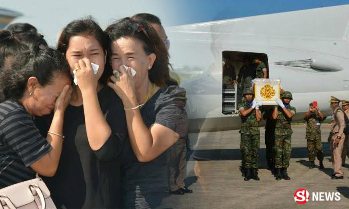 ญาติพี่น้องน้ำตานอง รับศพนาวิกโยธินหนุ่ม พลีชีพชายแดนใต้