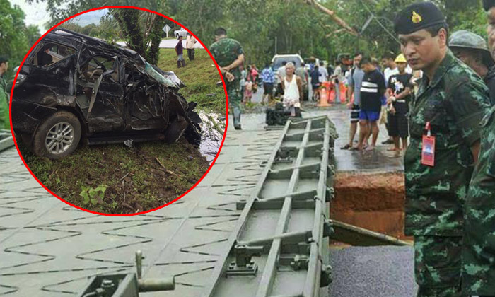 """เผยภาพสุดท้าย """"ผู้พันบอม"""" ช่วยชาวบ้านน้ำท่วม ก่อนประสบอุบัติเหตุเสียชีวิต"""