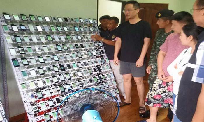 """รวบหนุ่มจีน รับจ้าง """"กดไลค์-กดแชร์"""" พร้อมยึดไอโฟน 500 เครื่อง"""