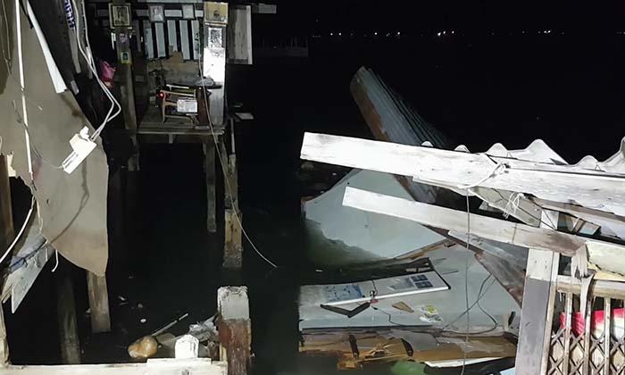 บ้านถล่มจมลงทะเล สาว ม.บูรพา หนีไม่ทันเสียชีวิต