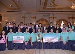 ทีมลูกยางสาวไทยพบนายกฯรับเงินอัดฉีด2ล.
