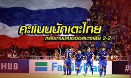 จัดไป! คะแนนนักเตะไทย หลังเกมเสมอออสเตรเลีย 2-2 แบบสุดมันส์  / โดย บ.ส้มซิ่ง
