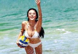 กี่ทีก็ไม่เบื่อ! Beach Volleyball Girl