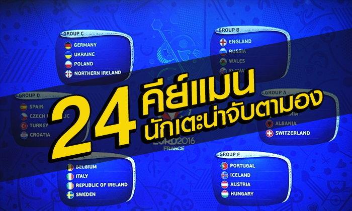 24 ทีมในศึกยูโร 2016