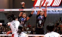 """สุดเสียดาย! """"สาวไทย"""" พ่าย """"ญี่ปุ่น"""" 2-3 คว้าที่ 2 ศึกลูกยาง U-23 ชิงแชมป์เอเชีย"""