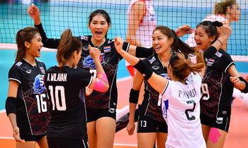 """ฟอร์มสวยหรู! """"ลูกยางสาวไทย"""" ไล่ต้อน """"ตุรกี"""" 3-0 เซต WGP"""