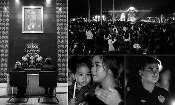 """ประมวลภาพ """"ทัพนักเตะและชาวบุรีรัมย์"""" ร่วมถวายความอาลัยในหลวง (คลิป+อัลบั้ม)"""
