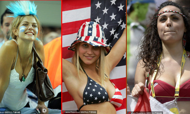 รวมสาวนานาชาติ สีสันกองเชียร์ในฟุตบอลโลก